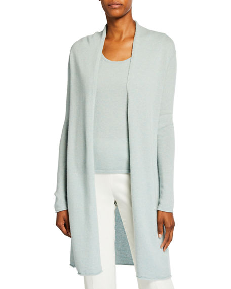 Neiman Marcus Cashmere Collection Plus Size Cashmere Duster Cardigan