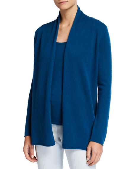Neiman Marcus Cashmere Collection Classic Cashmere Open Cardigan