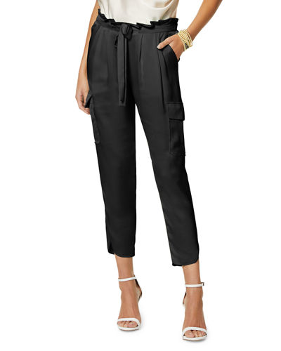 Allyn Satin Pleated Pants