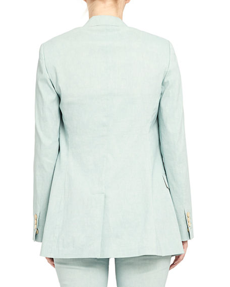 Image 2 of 4: Theory Double Breasted Tailored Linen-Blend Jacket