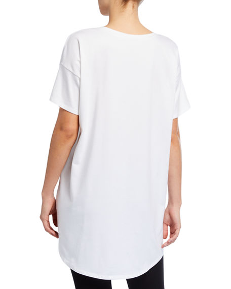 Image 2 of 2: Eileen Fisher V-Neck Short-Sleeve Organic Cotton Jersey Tunic