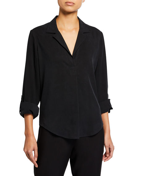 Image 1 of 4: Go Silk Plus Size Go Anywhere Fuji Silk Top