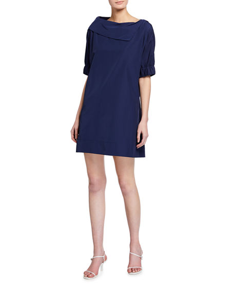 Image 1 of 2: Finley Skipper Elbow-Sleeve Shift Dress