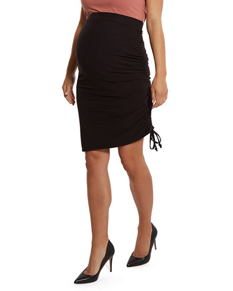 Stowaway Collection Maternity Over Under Maternity & Postpartum Unlined Skirt