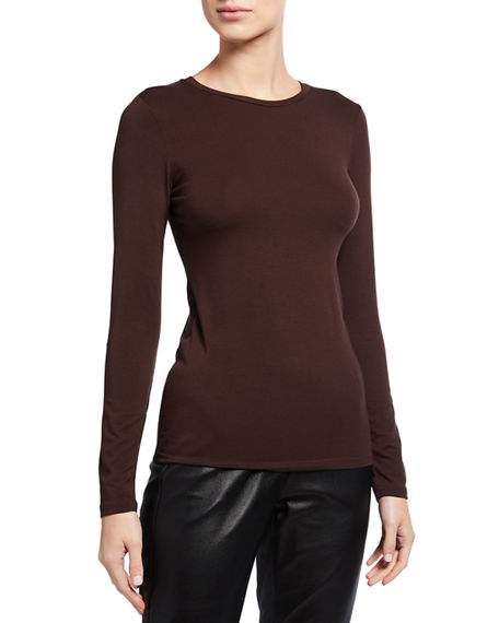 Image 1 of 3: Majestic Filatures Ally Soft Touch Long-Sleeve Crewneck Tee