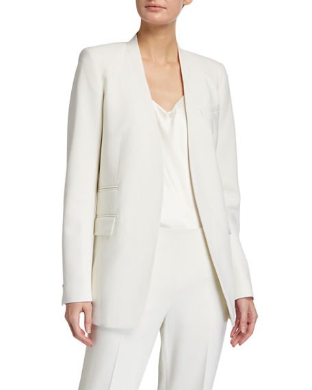 Lafayette 148 New York Digby Luxe Italian Double Face Wool Blazer