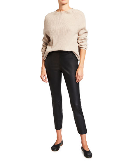 Image 3 of 3: Lafayette 148 New York Murray Skinny Leather Pants