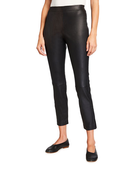 Image 1 of 3: Lafayette 148 New York Murray Skinny Leather Pants