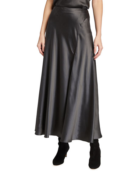 Lafayette 148 New York Sonoma Luxe Charmeuse Long Skirt