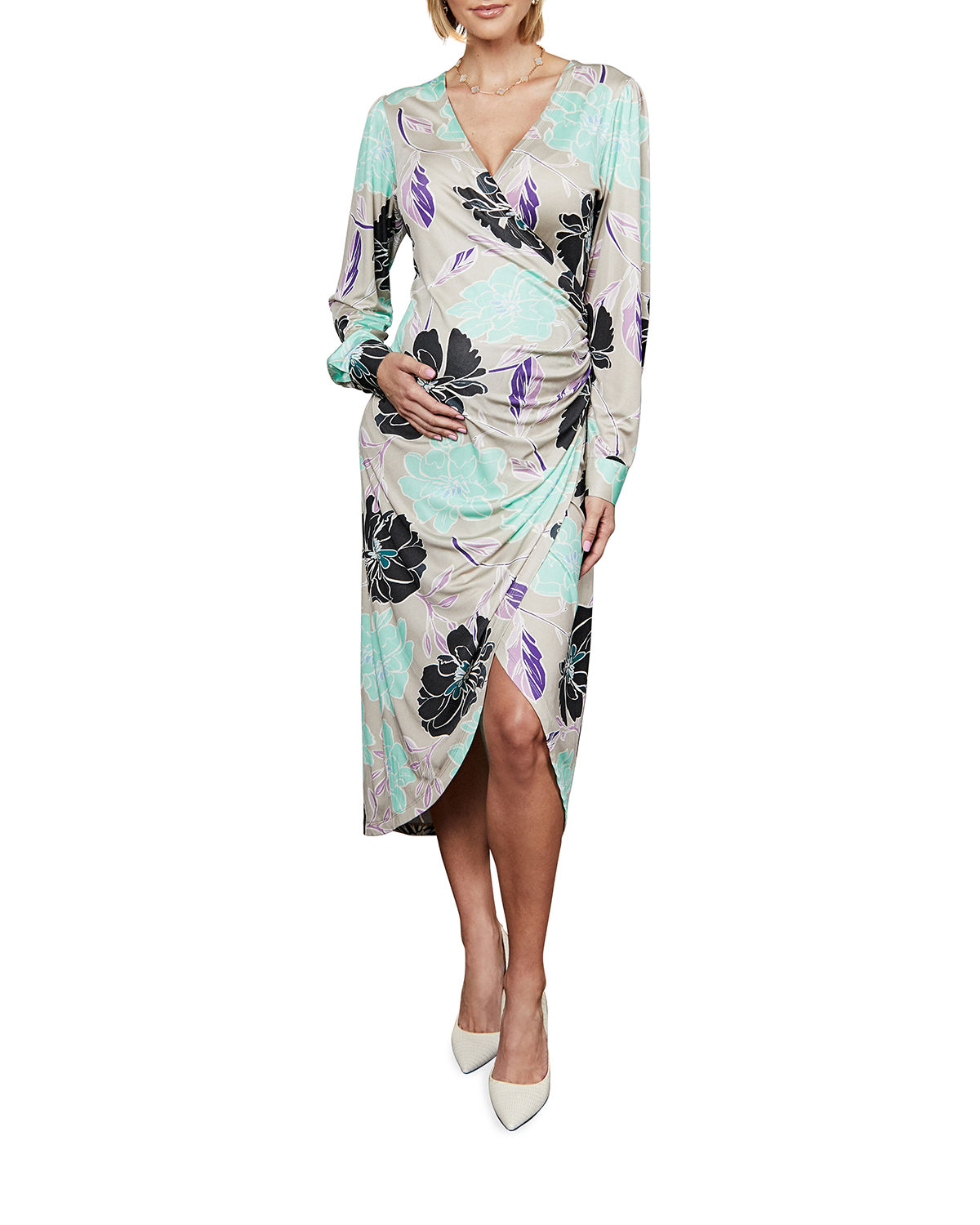 Maternity The Selina Printed High-Low Dress
