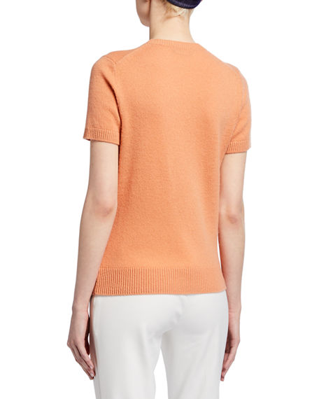 Image 2 of 3: Theory Basic Short-Sleeve Cashmere Tee