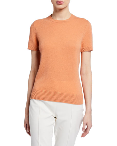 Image 1 of 3: Theory Basic Short-Sleeve Cashmere Tee