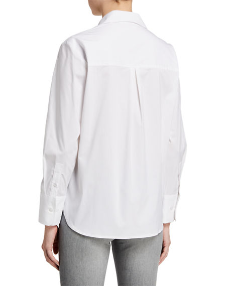 Image 2 of 3: Finley Alicia Solid Button-Down Shirt