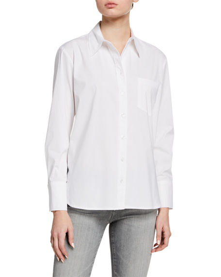Image 1 of 3: Finley Alicia Solid Button-Down Shirt