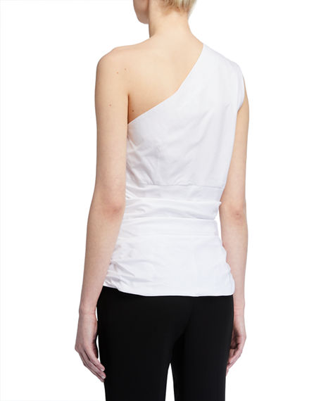 Image 2 of 2: Finley Sheila One-Shoulder Shirred Shirt