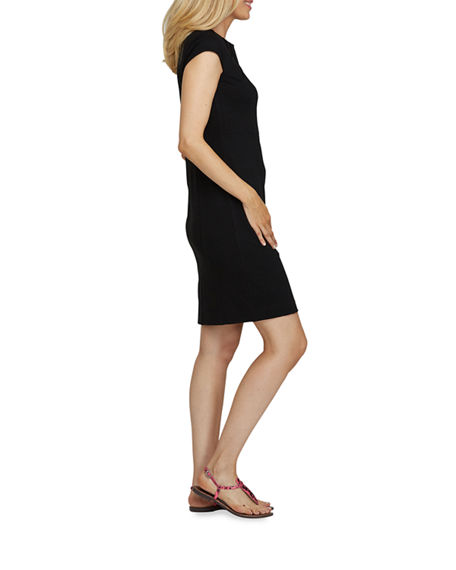 Image 2 of 4: Joan Vass Petite Cap-Sleeve Casual Dress
