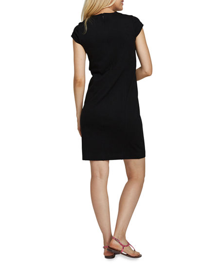 Image 3 of 4: Joan Vass Petite Cap-Sleeve Casual Dress