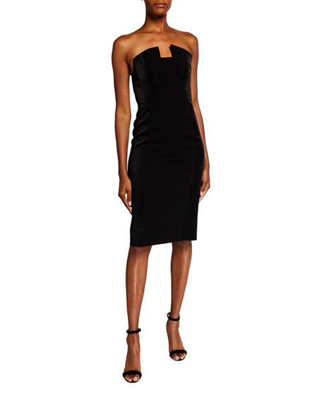 Black Halo Lena Strapless Sheath Dress
