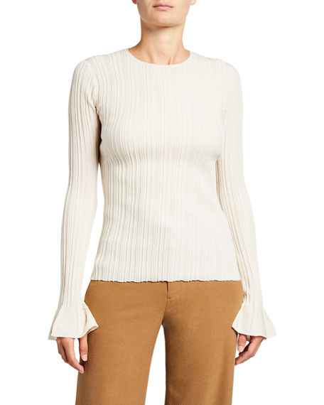 Theory Evian Stretch Linear Knit Top