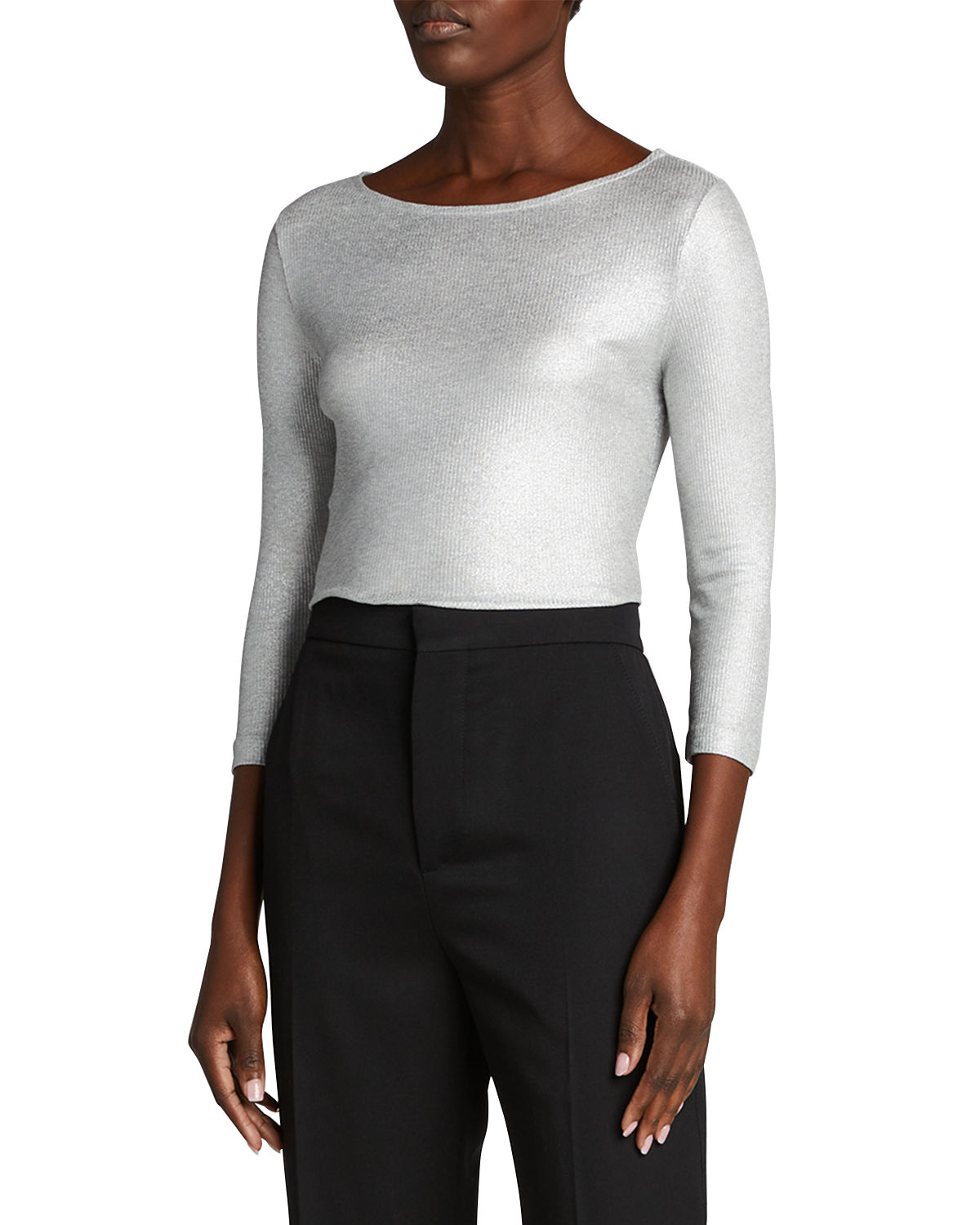 Majestic SOFT-TOUCH METALLIC RIBBED TOP