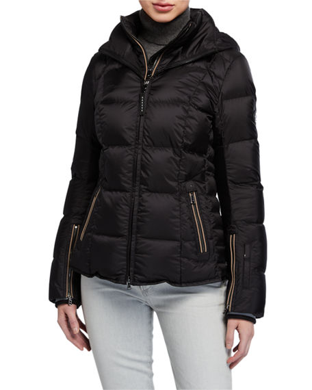 Bogner Coro Quilted Down Puffer Coat with Hood