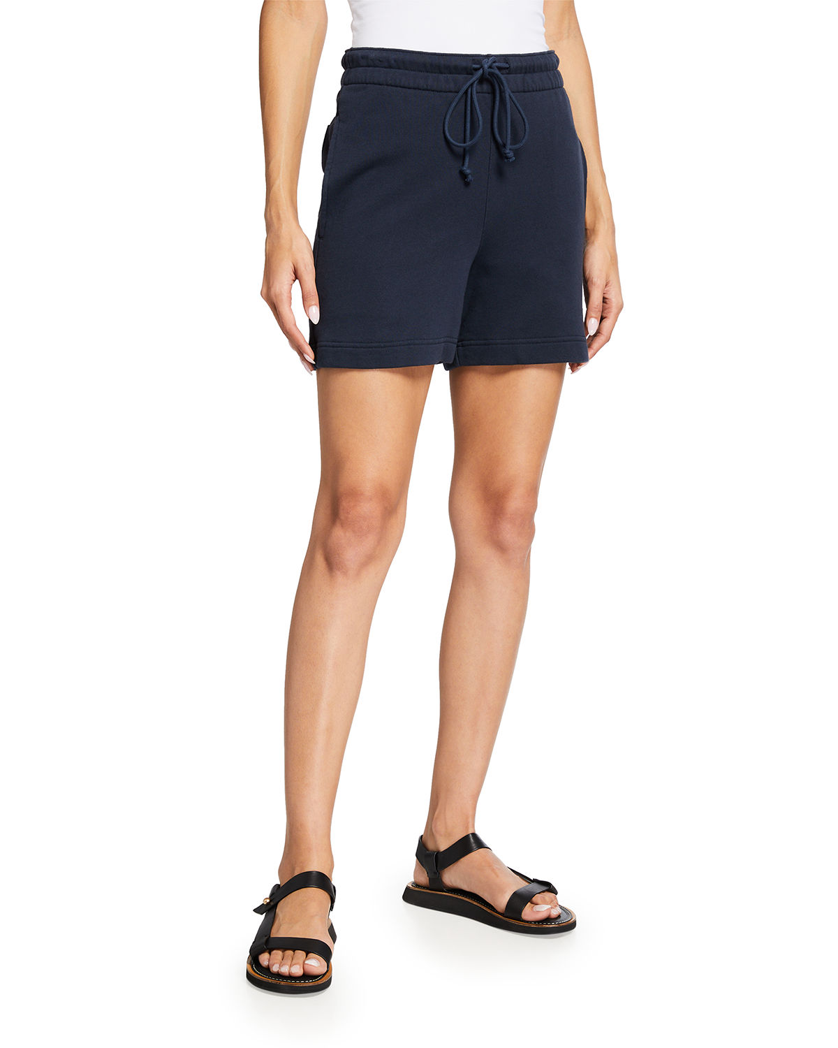 Vince Cottons SOLID DRAWSTRING SHORTS