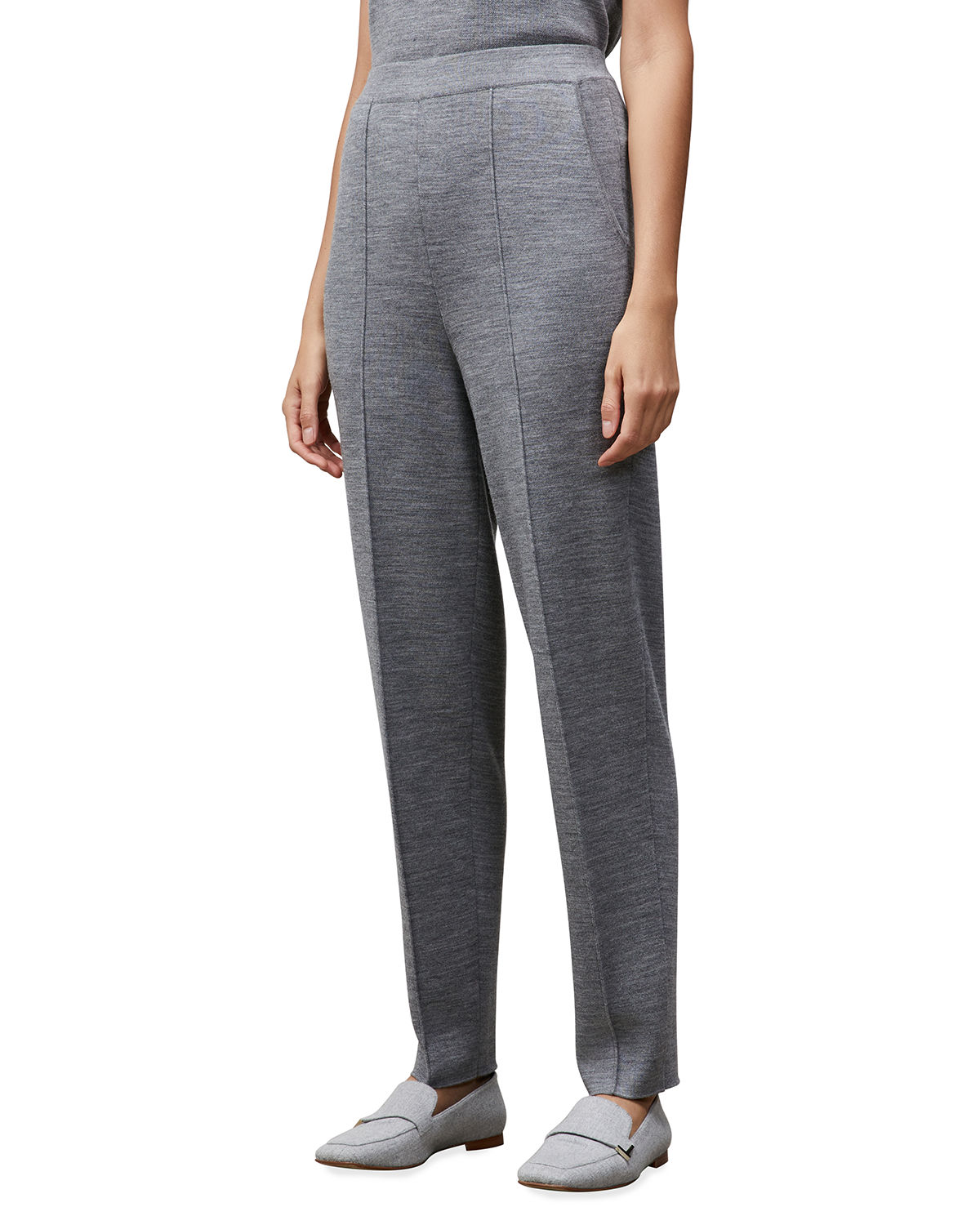 Lafayette 148 DOUBLE-KNIT TAPERED PANTS