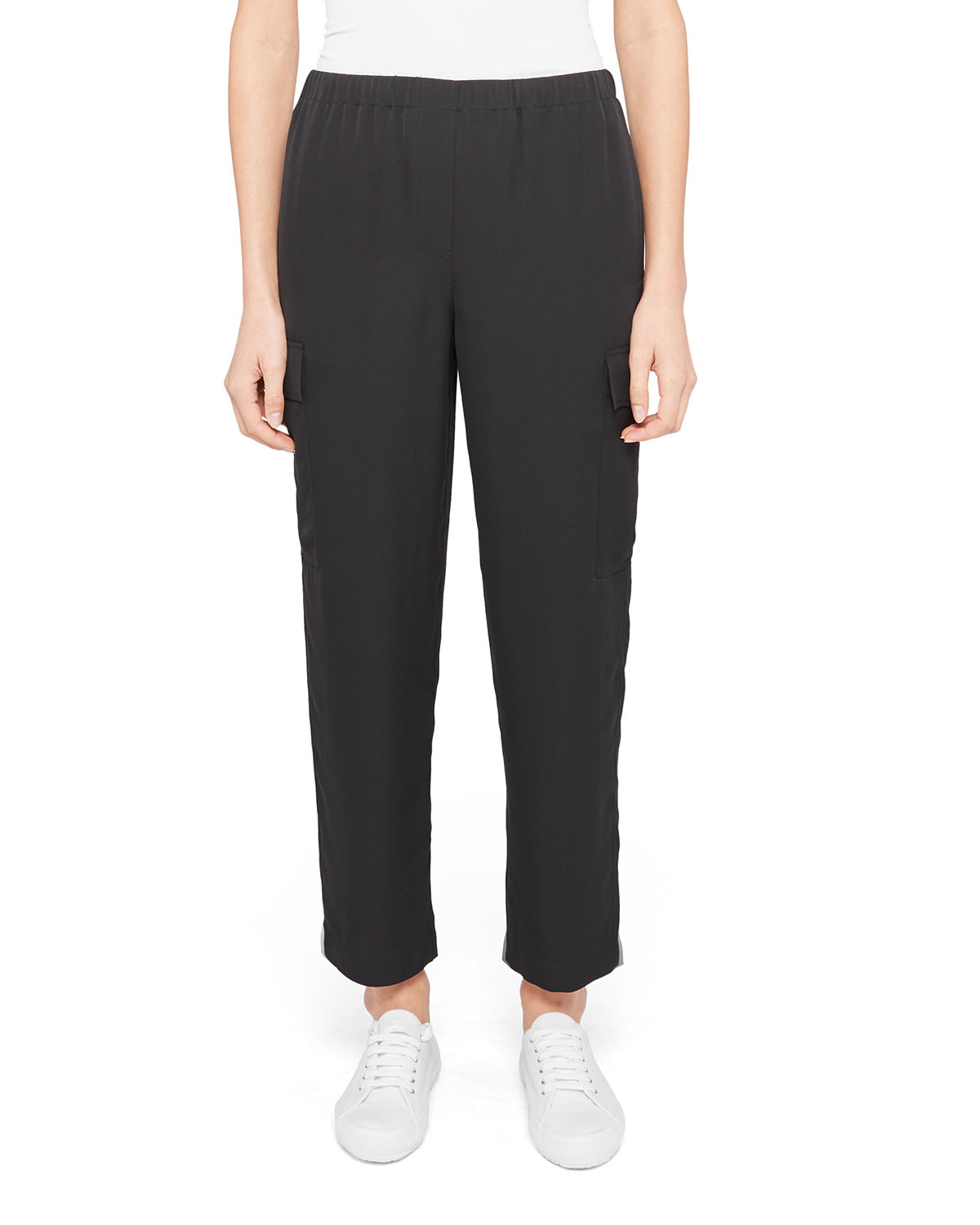 Theory CROPPED SILK CARGO PANTS