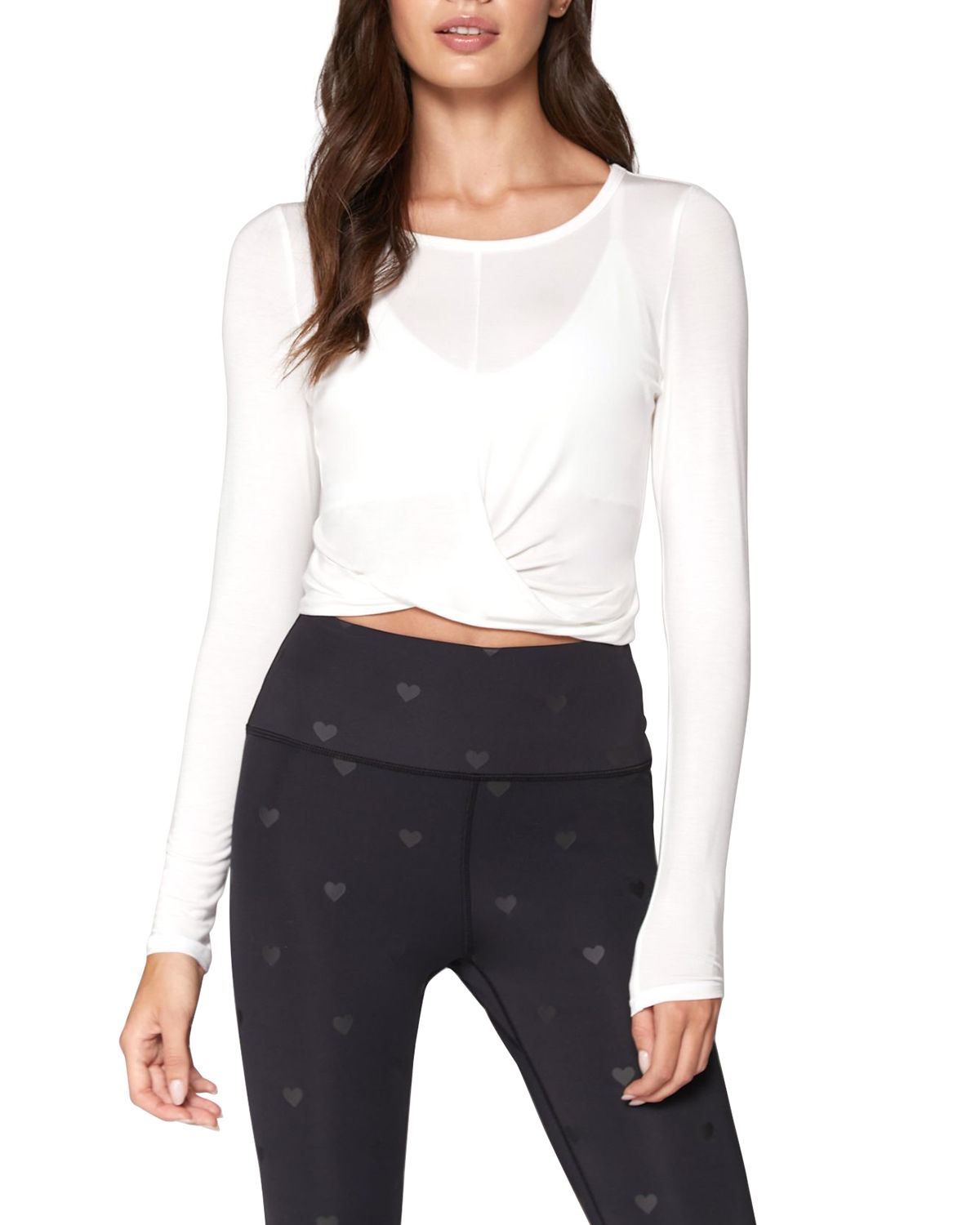 Spiritual Gangster Tops MUSE TWIST-FRONT LONG-SLEEVE TOP
