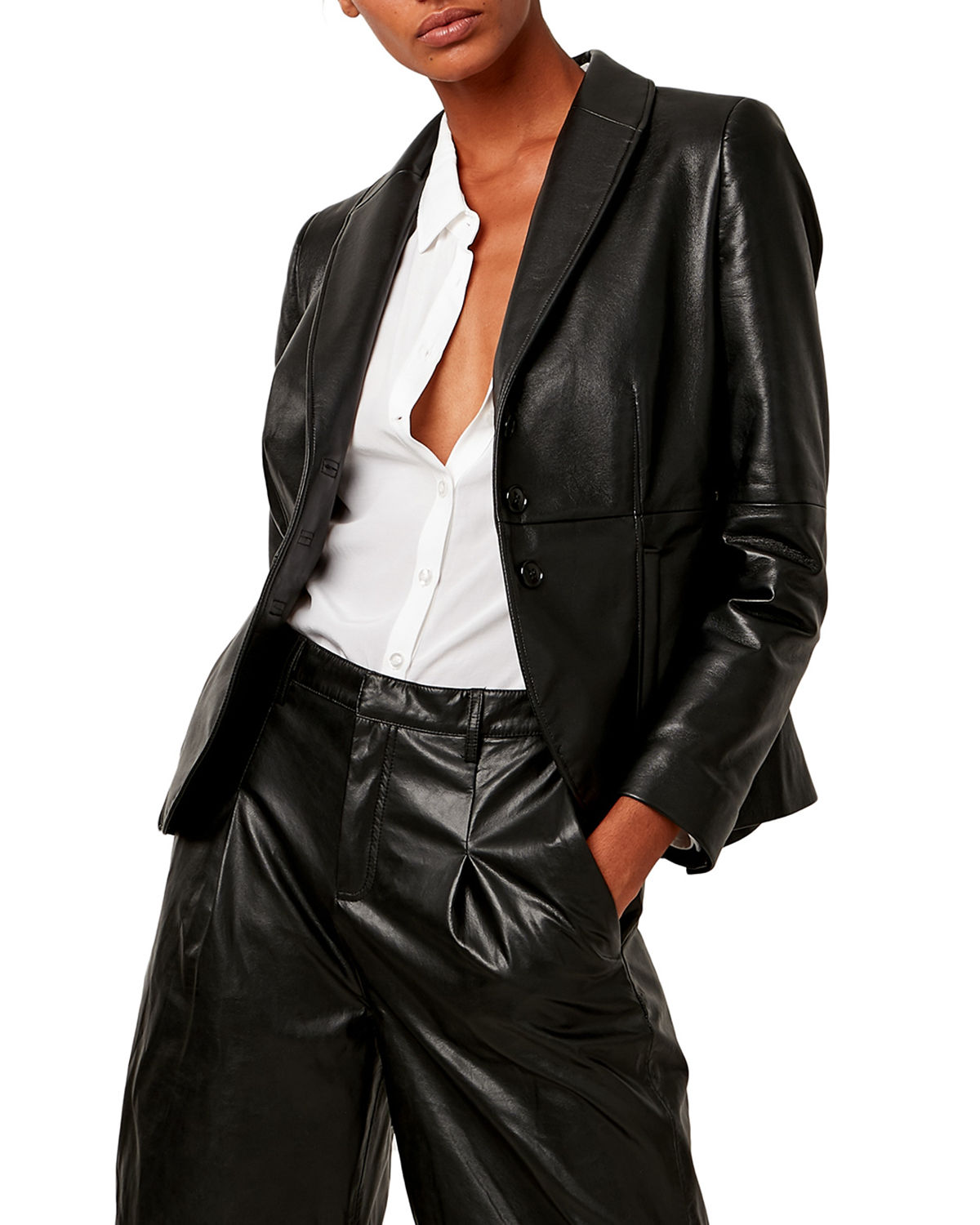 The Denise Recycled Leather Blazer