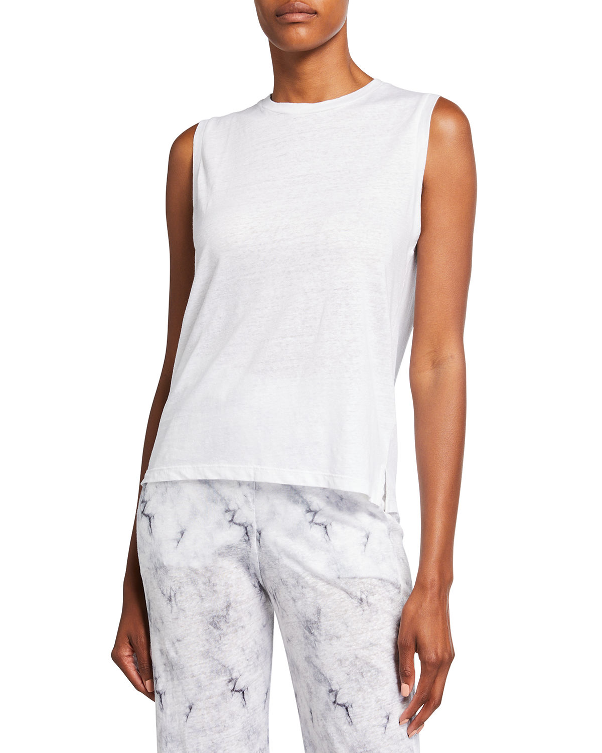 Stretch Linen Relaxed Tank