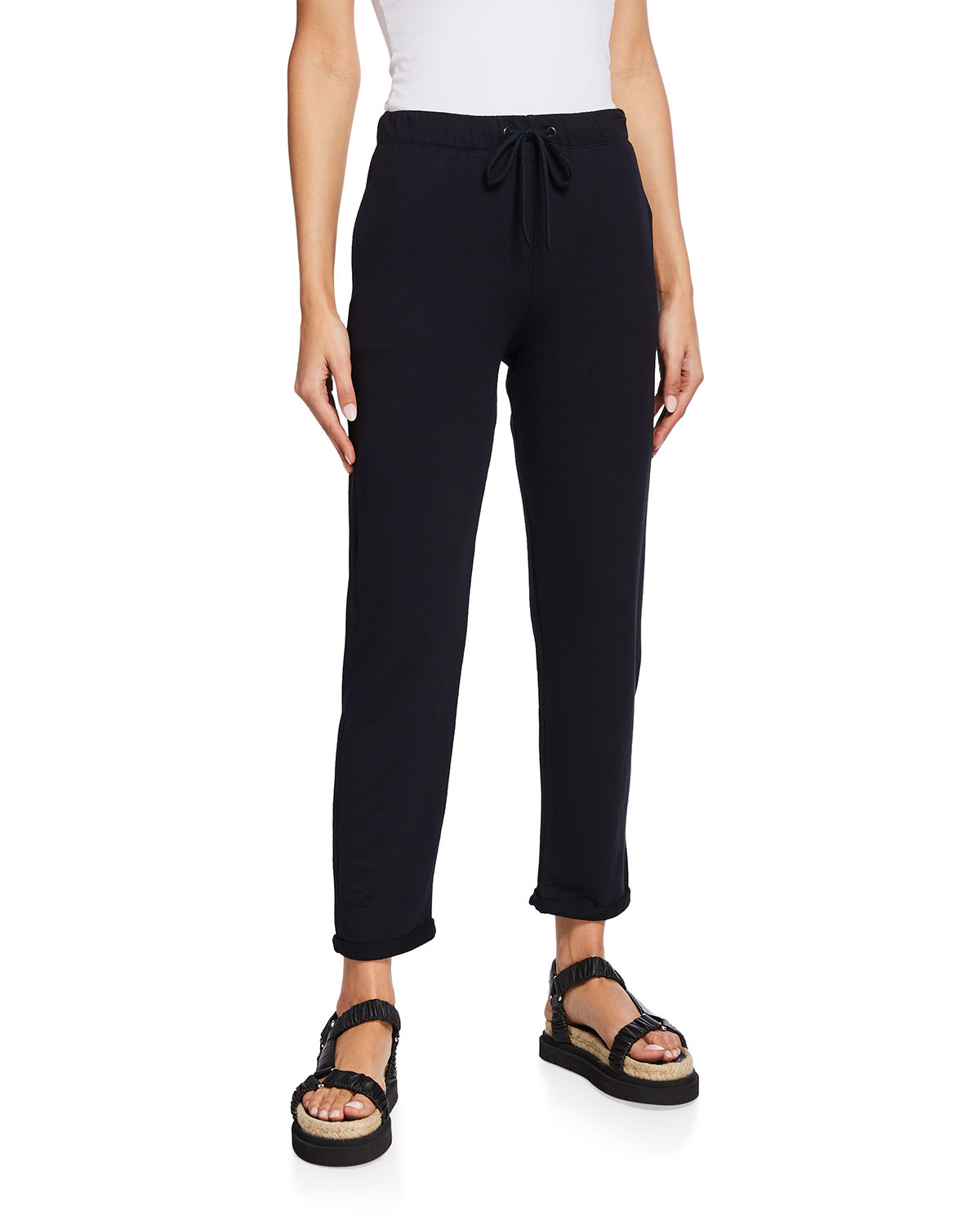 Majestic FRENCH TERRY CUFFED DRAWSTRING PANTS