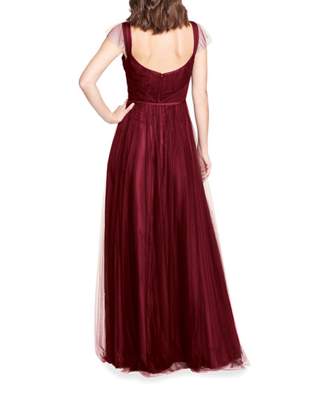 Image 2 of 3: Marchesa Notte Bridesmaid Sleeveless Tulle A-Line Gown