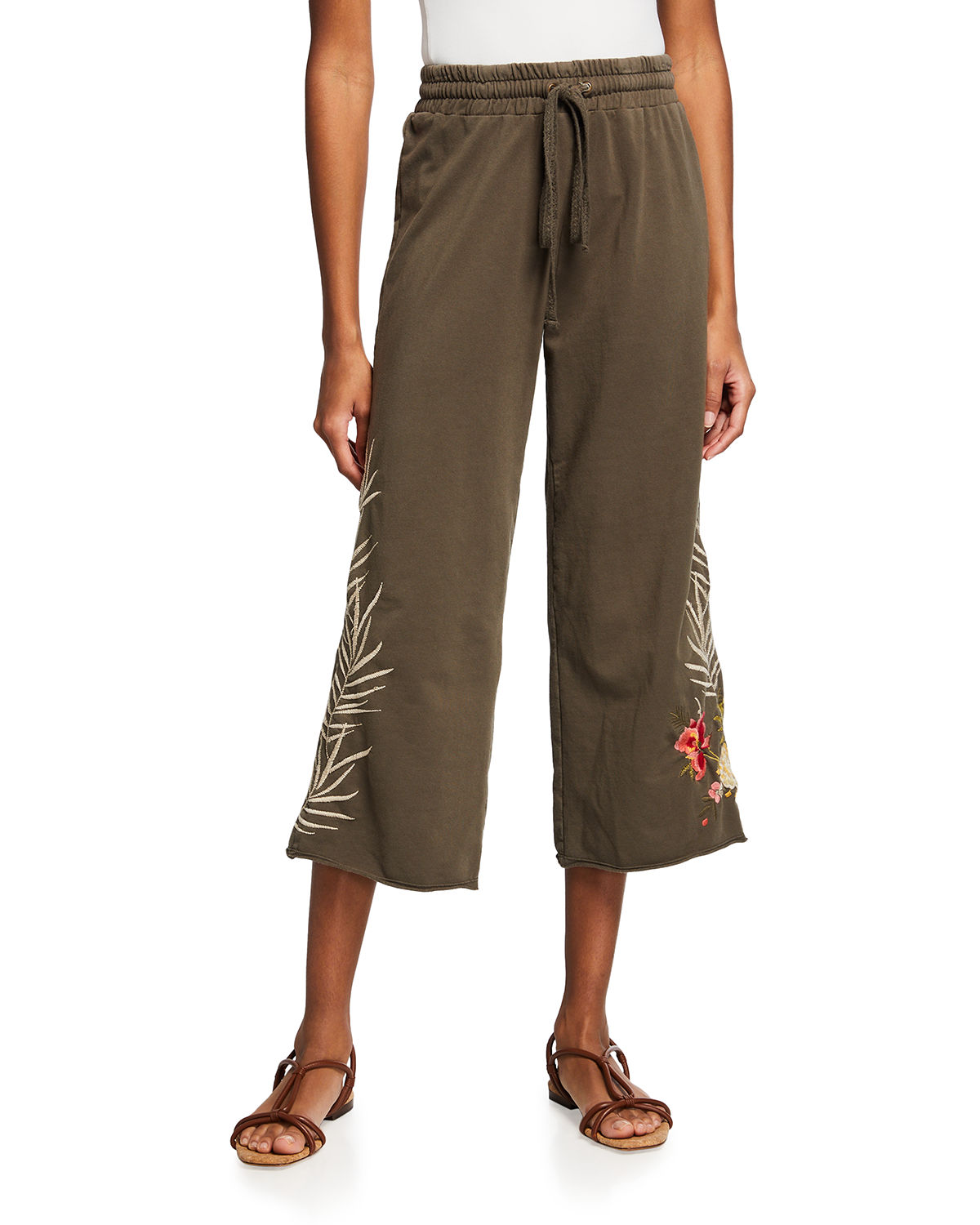Johnny Was NOHEA FRENCH TERRY CROPPED PANTS