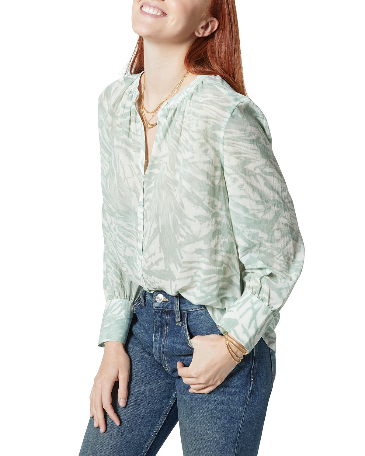 Fano Printed Button-Front Shirt