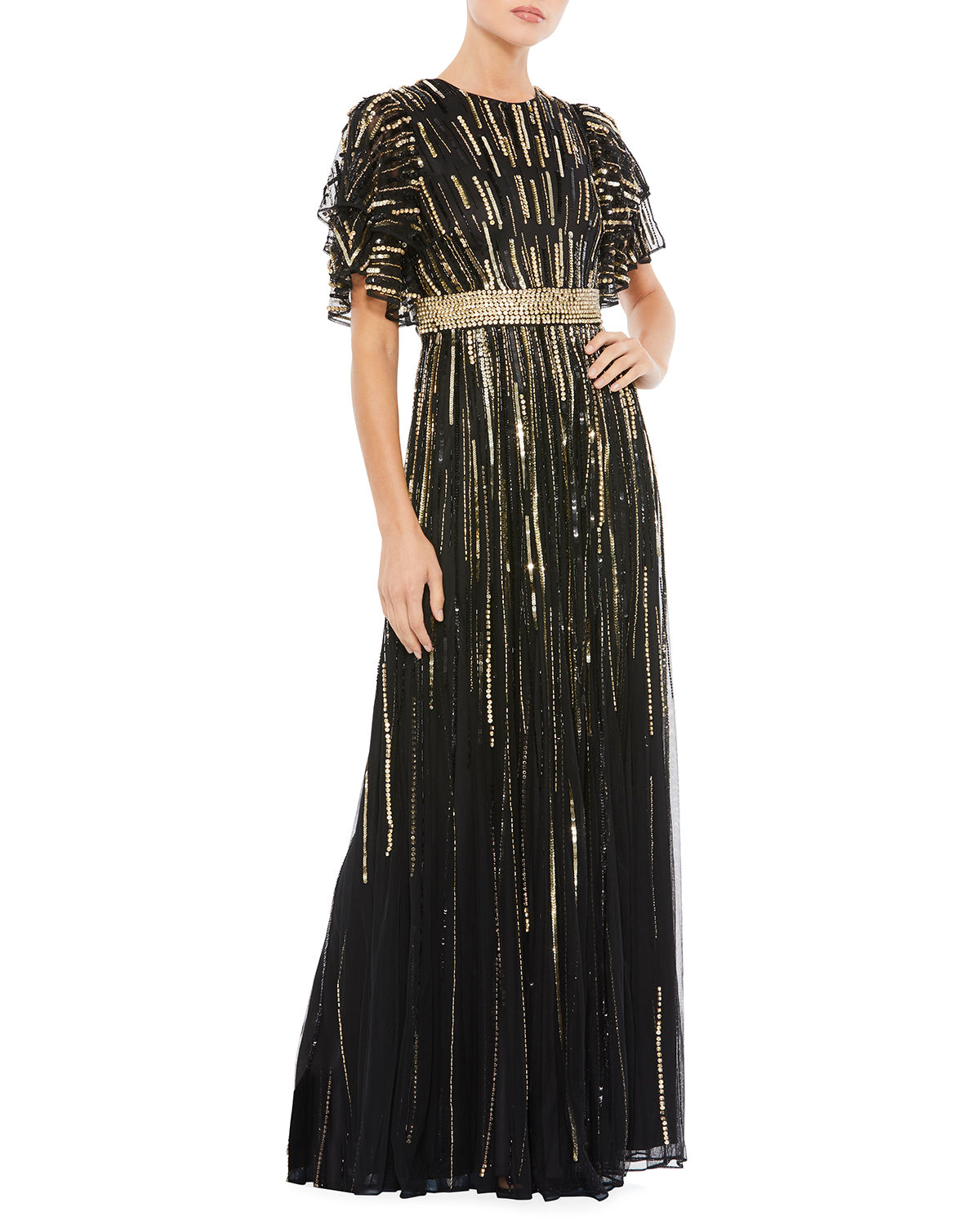 Novelty Sequin A-Line Gown