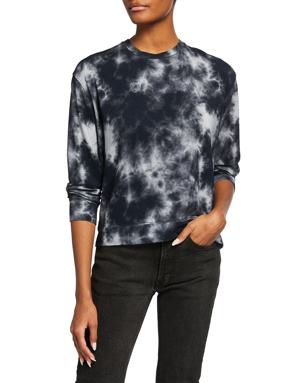 Tie-Dye French Terry Crewneck Pullover