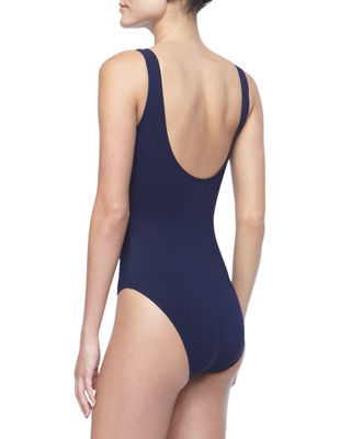 Image 2 of 2: Twist-Front Silent Underwire One-Piece Swimsuit