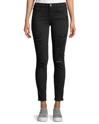 Image 1 of 4: Le Color Rip Skinny Jeans