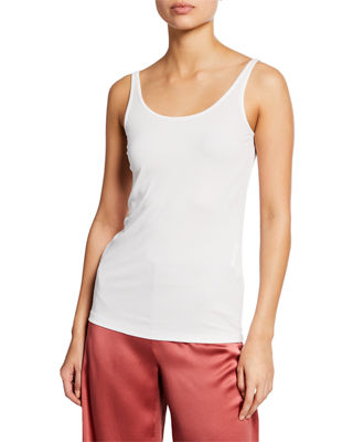 Eileen Fisher Sheer Round-Neck Silk Georgette Top and
