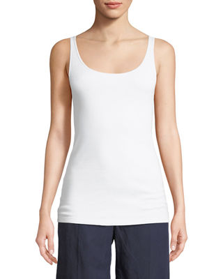 Eileen Fisher Striped Long Tank, Organic Cotton Slim