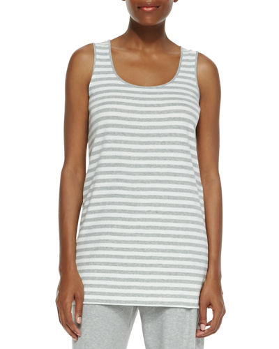 Petite Striped Cotton Tank