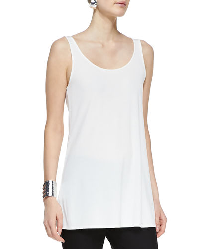 Eileen Fisher Long Silk Jersey Tunic, Petite