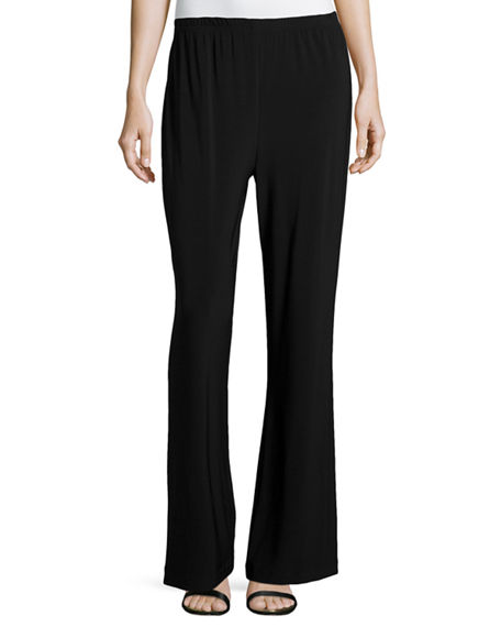 Caroline Rose Plus Size Stretch-Knit Wide-Leg Pants