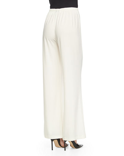 Stretch-Knit Wide-Leg Pants, Plus Size
