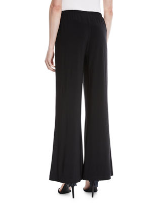 Image 2 of 4: Stretch-Knit Wide-Leg Pants