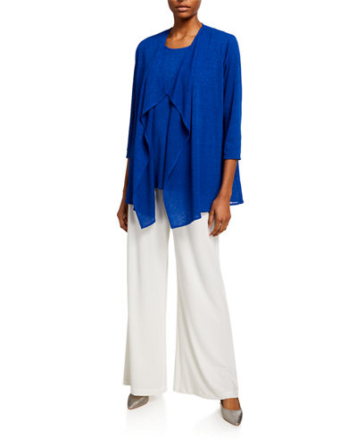 Stretch-Knit Wide-Leg Pants