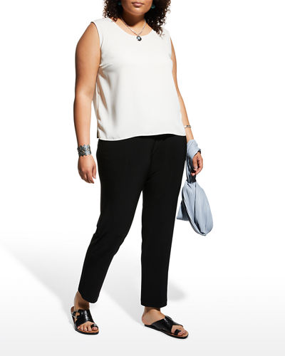 Caroline Rose Plus Size Stretch-Knit Slim Pants