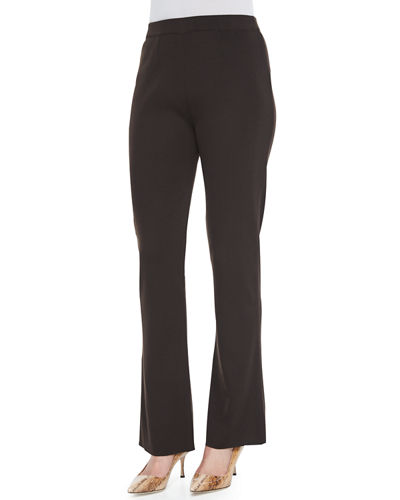 Boot-Cut Knit Pants, Plus Size