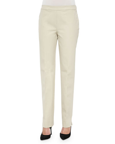 Lafayette 148 New York Flat-Front Bleecker Pants, Plus